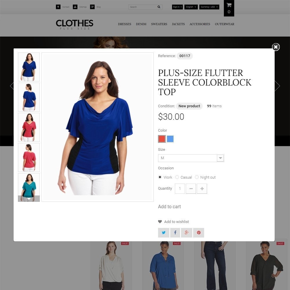 theme - Moda & Obuwie - Clothes Plus Size - Apparel Template - 3