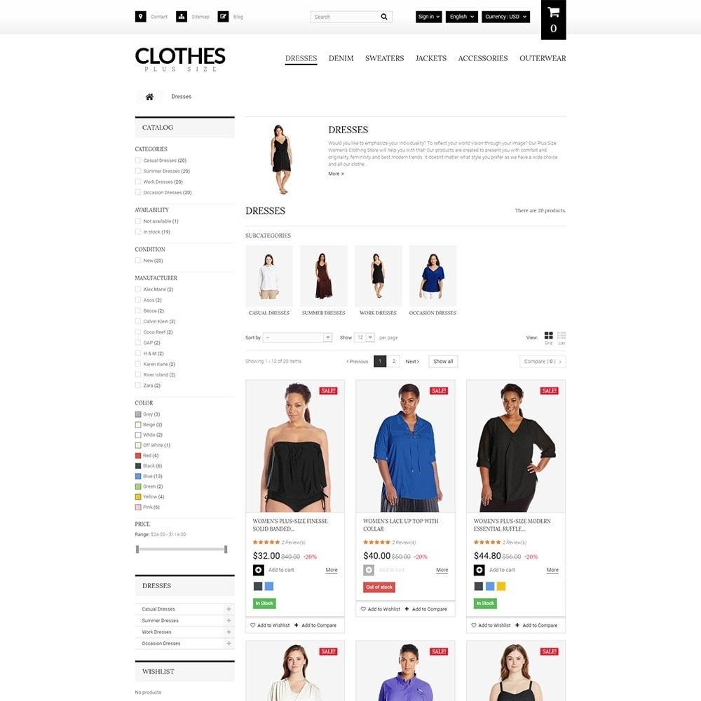 theme - Moda & Obuwie - Clothes Plus Size - Apparel Template - 5