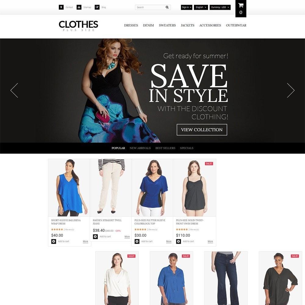 theme - Мода и обувь - Clothes Plus Size - шаблон на тему магазин одежды - 2