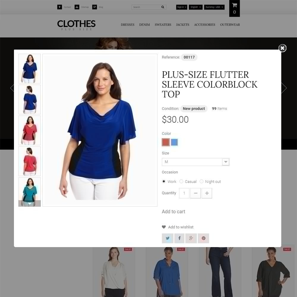theme - Мода и обувь - Clothes Plus Size - шаблон на тему магазин одежды - 3