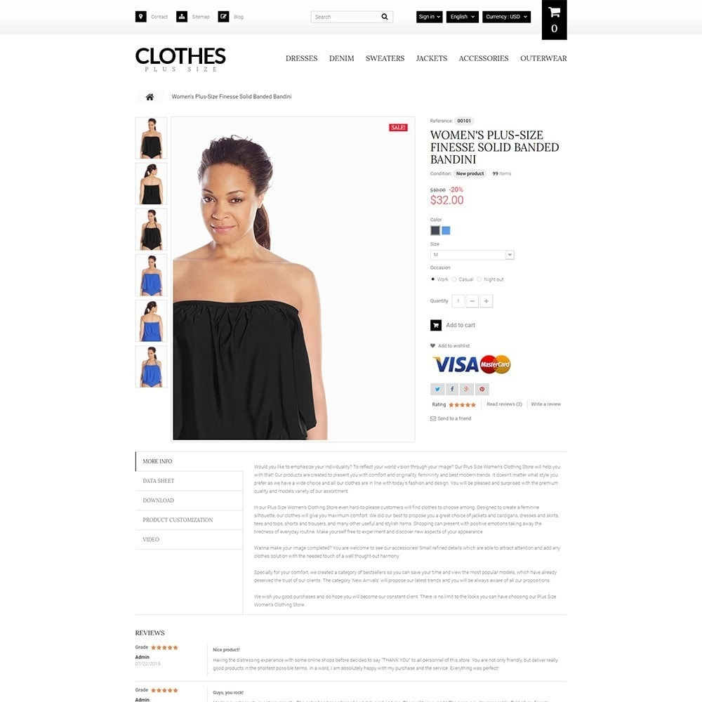 theme - Мода и обувь - Clothes Plus Size - шаблон на тему магазин одежды - 4