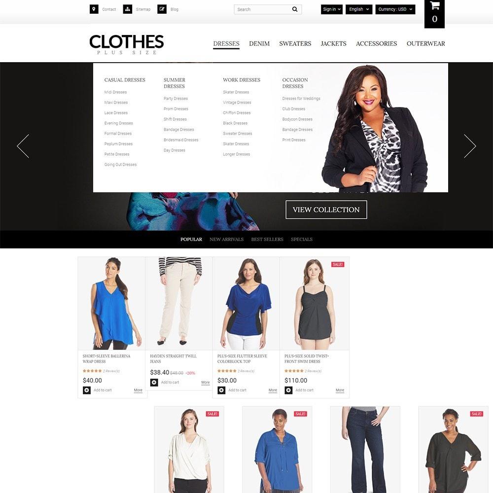 theme - Мода и обувь - Clothes Plus Size - шаблон на тему магазин одежды - 6