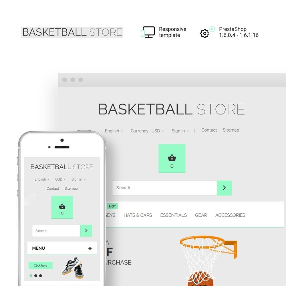 theme - Sports, Activities & Travel - Basketball Store - 1