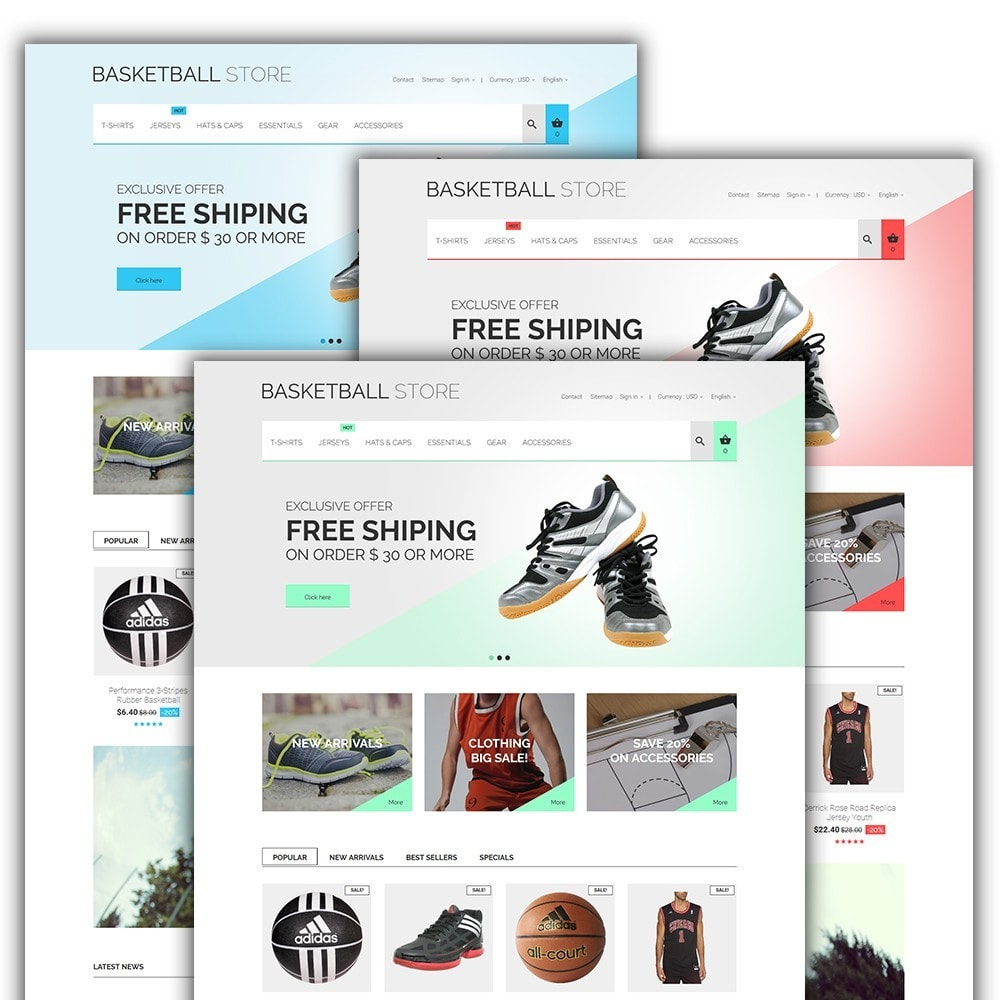 theme - Спорт и Путешествия - Basketball Store - 2