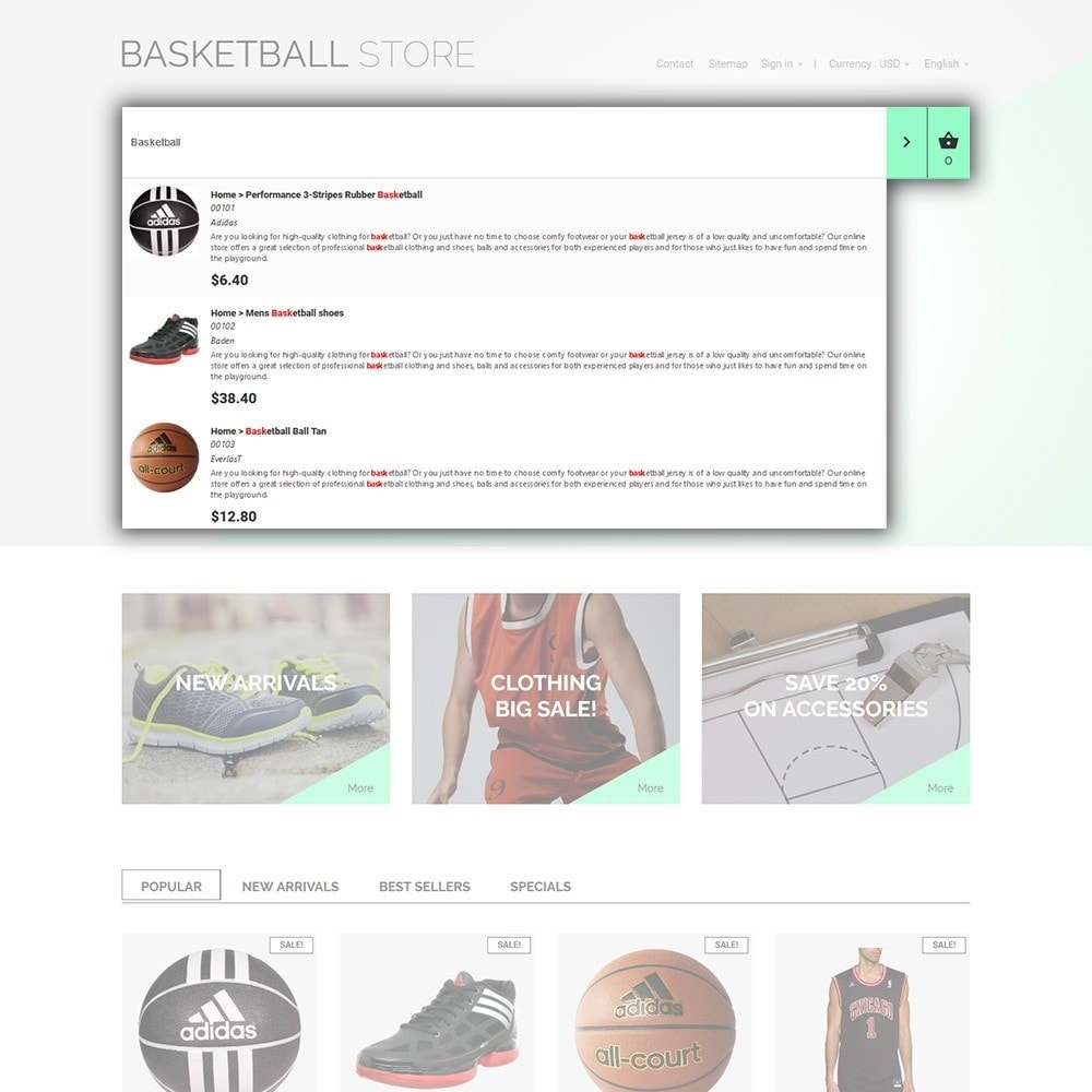 theme - Спорт и Путешествия - Basketball Store - 6