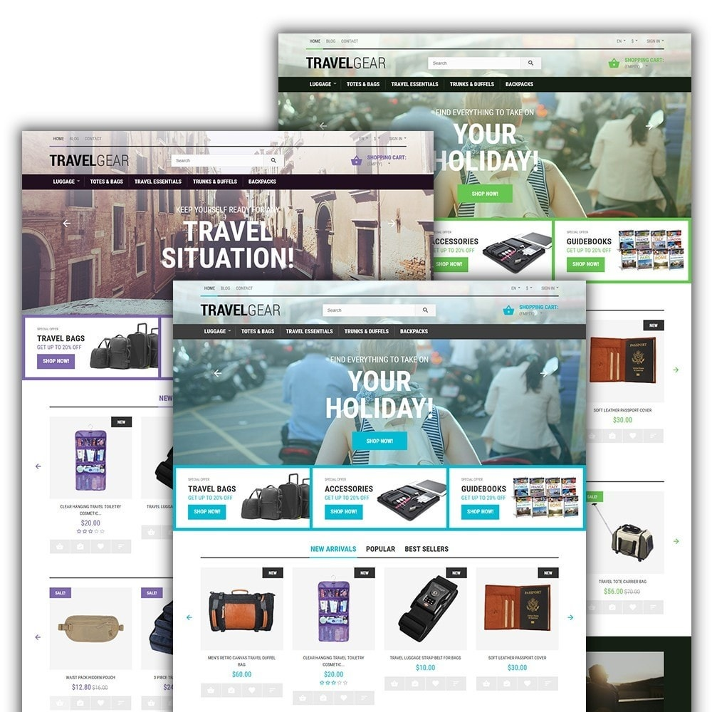 theme - Desporto, Actividades & Viagens - Travel Gear - Travel Store Template - 2