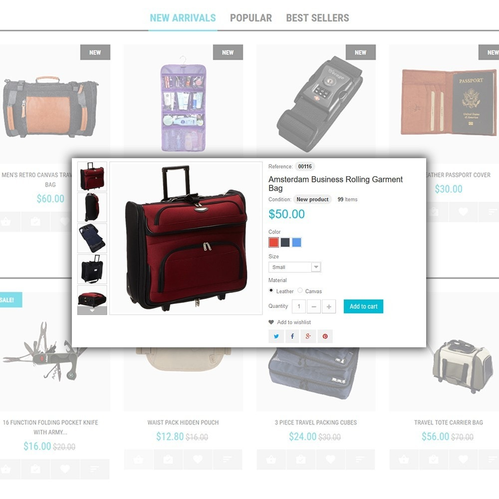 theme - Desporto, Actividades & Viagens - Travel Gear - Travel Store Template - 5