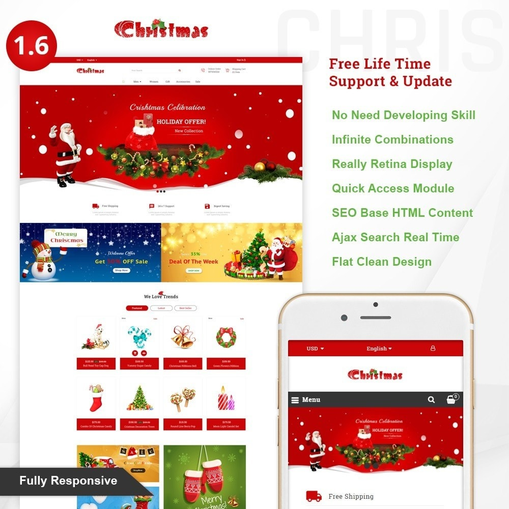theme - Gifts, Flowers & Celebrations - Gift Card - Christmas Store - 1