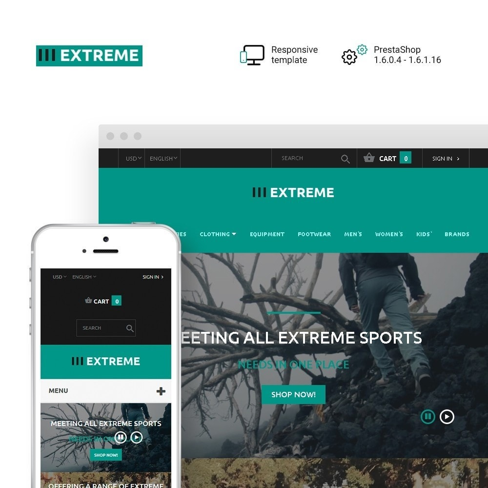 theme - Sports, Activities & Travel - Extreme - Extreme Sports Template - 1