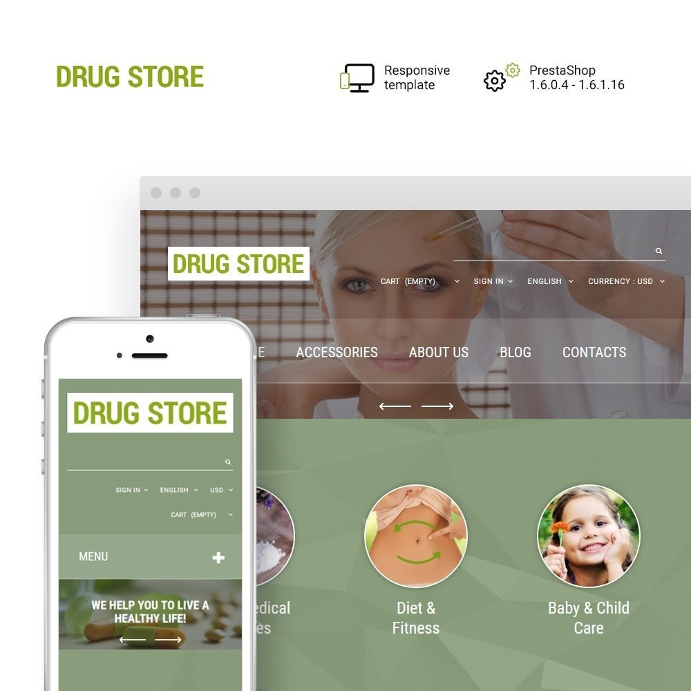 theme - Saúde & Beleza - Drug Store - 1