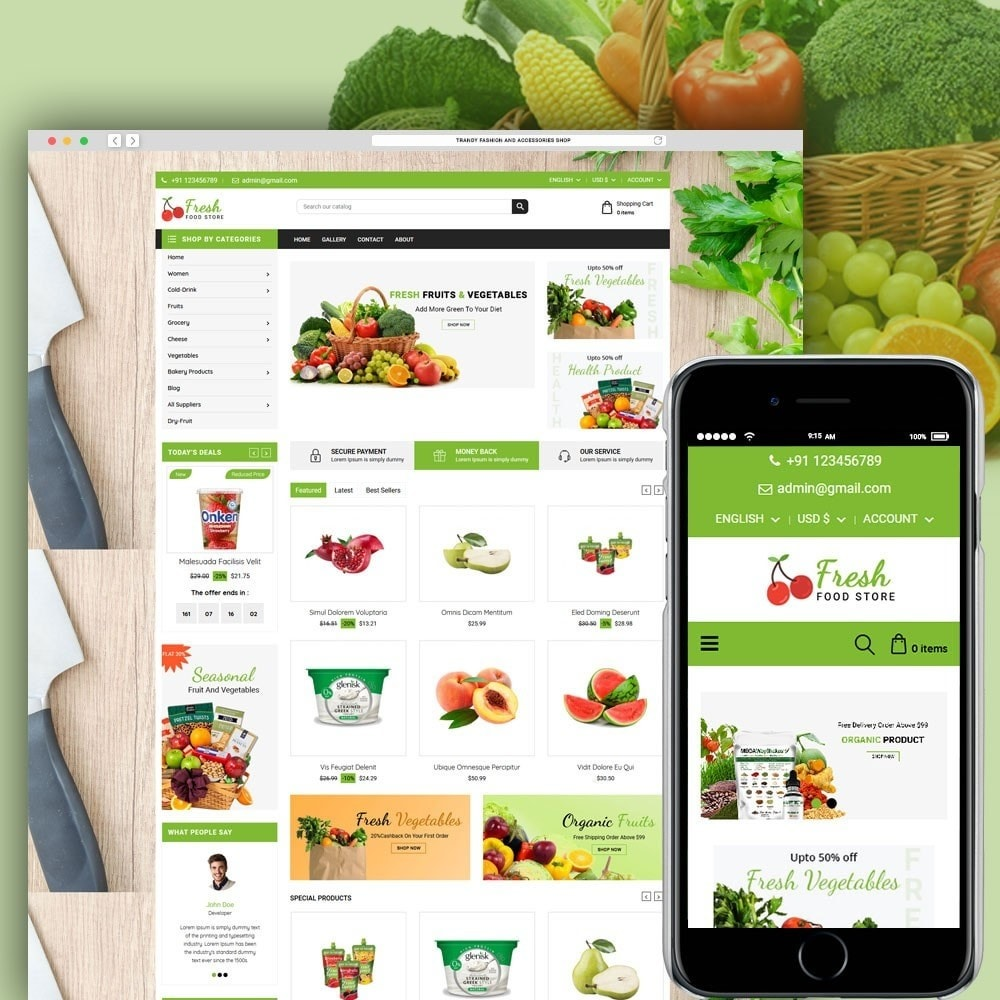 theme - Food & Restaurant - Fruit Store - 1