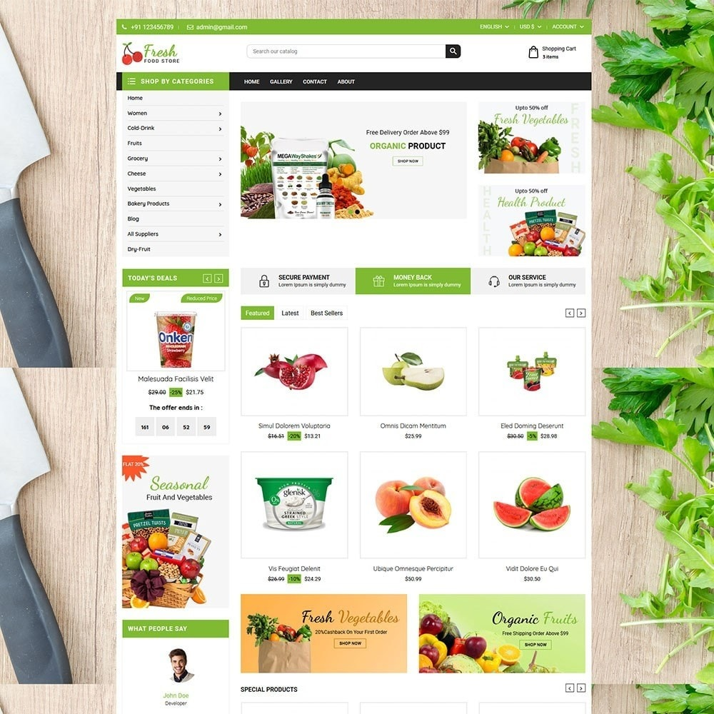 theme - Food & Restaurant - Fruit Store - 2