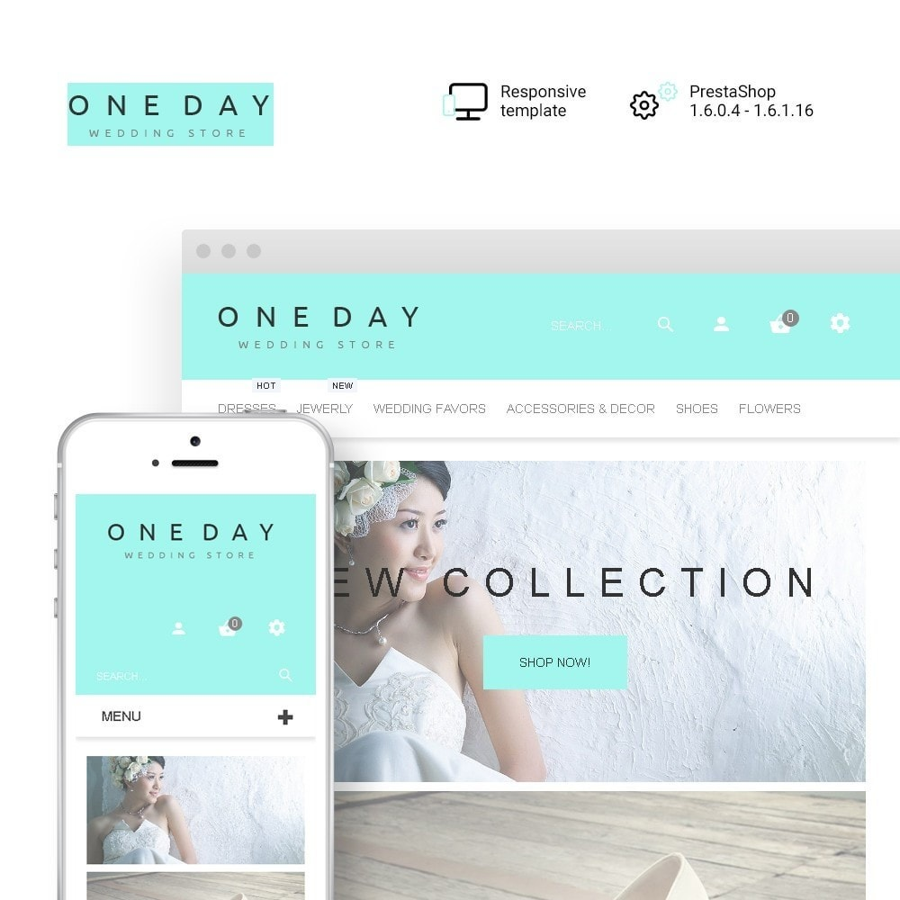 theme - Fashion & Shoes - One Day - Wedding Shop Template - 1