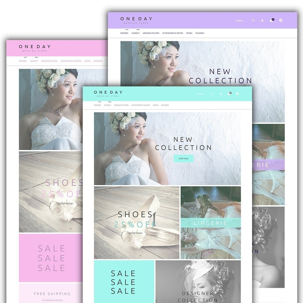 theme - Fashion & Shoes - One Day - Wedding Shop Template - 2