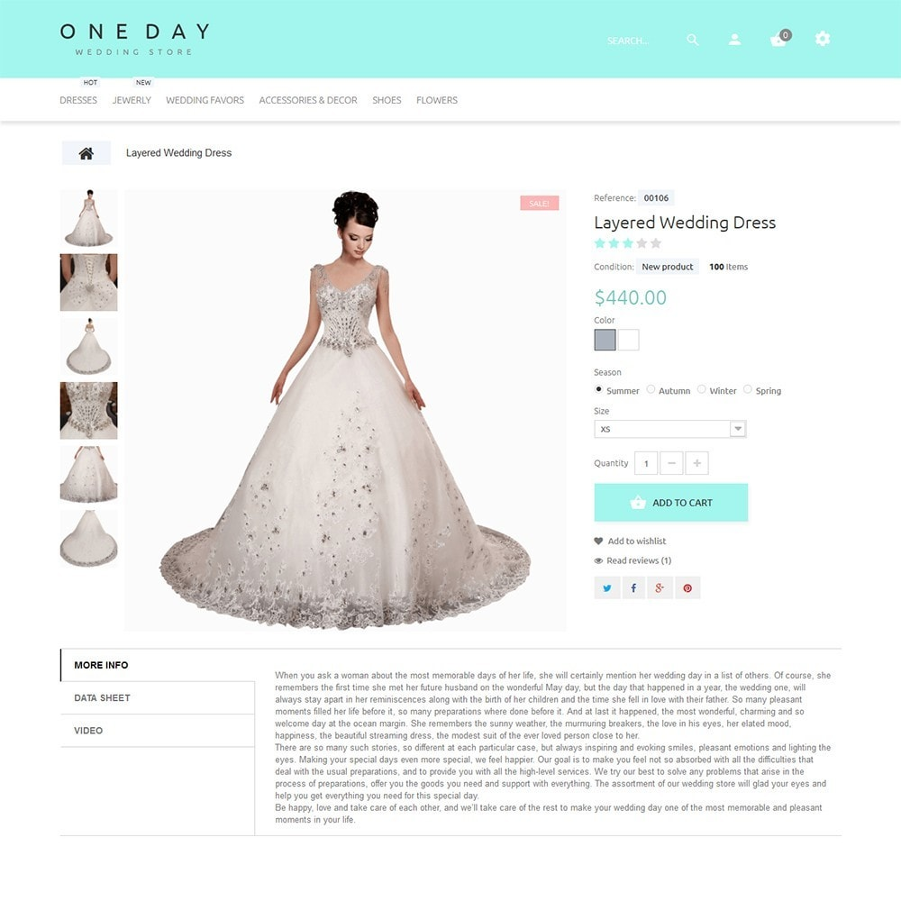 theme - Fashion & Shoes - One Day - Wedding Shop Template - 3