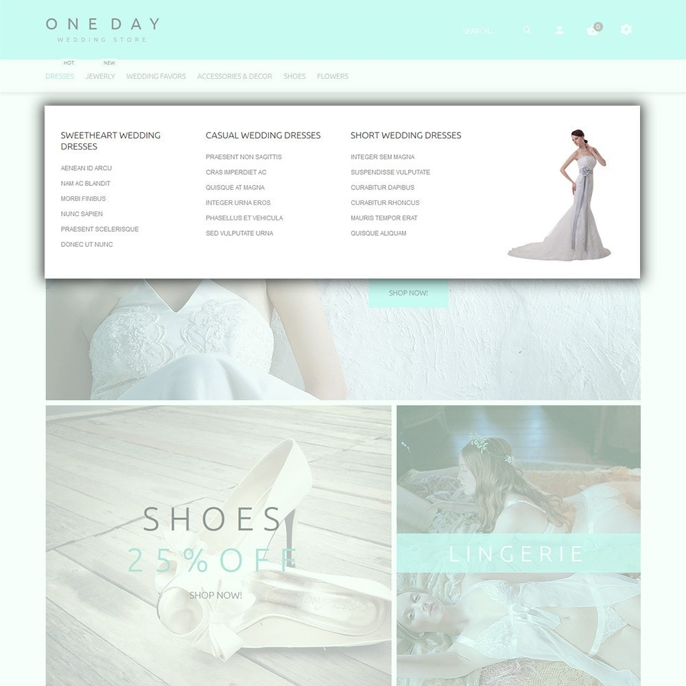 theme - Мода и обувь - One Day - шаблон на тему свадебный магазин - 5
