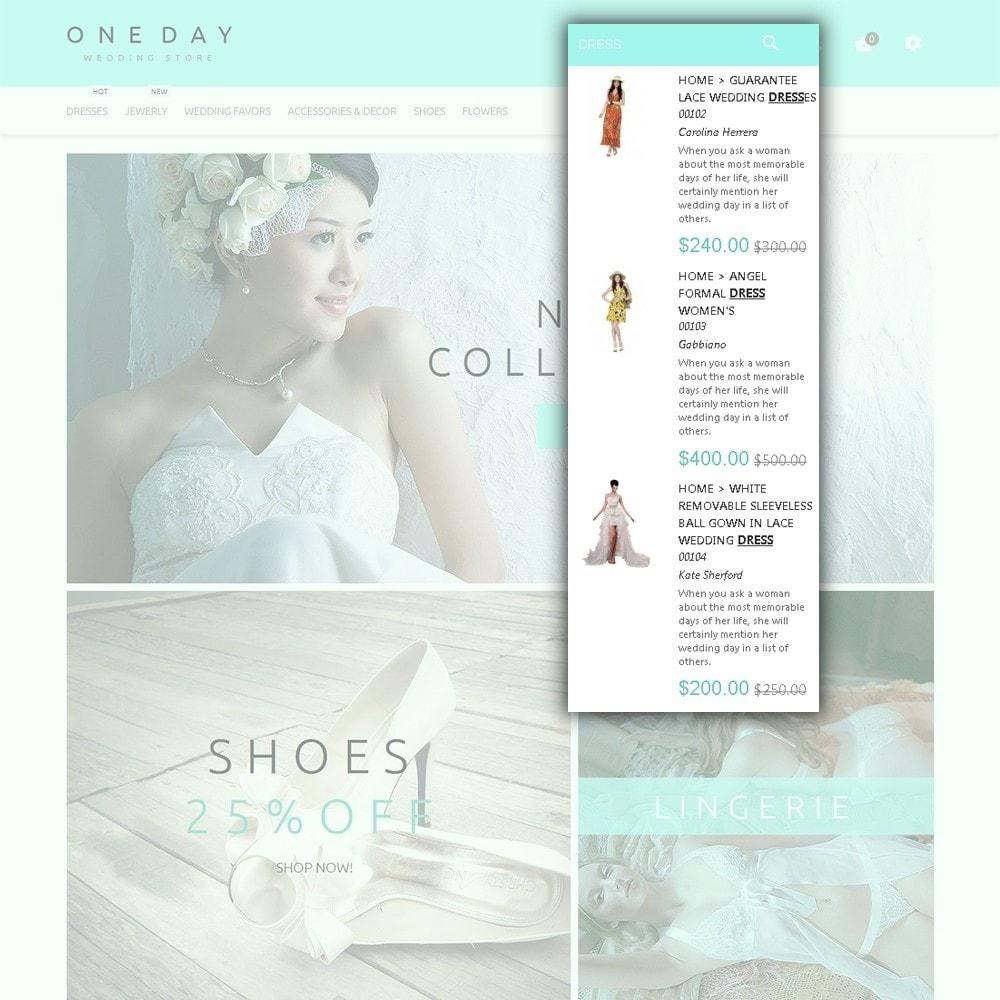 theme - Moda & Calzature - One Day - per Un Sito di Lista di Nozze - 6