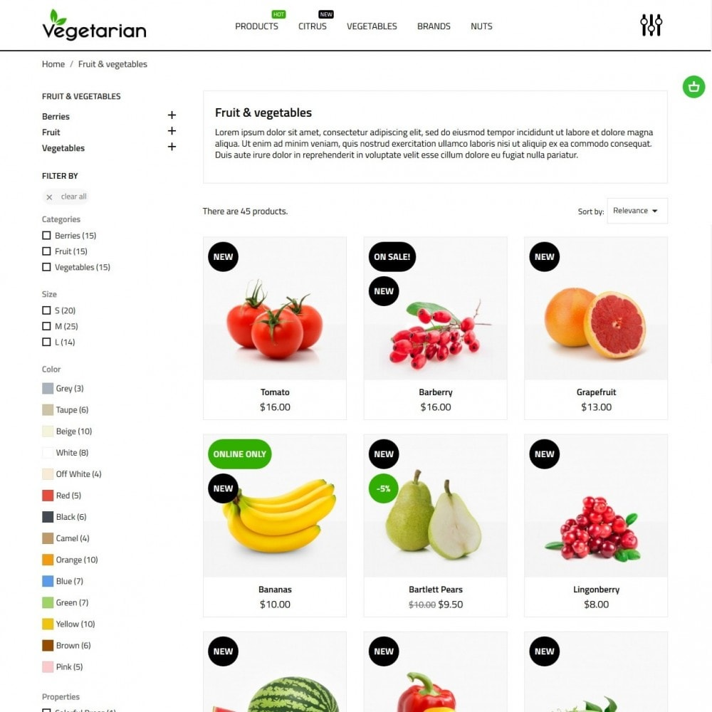 theme - Food & Restaurant - Vegetarian - 5