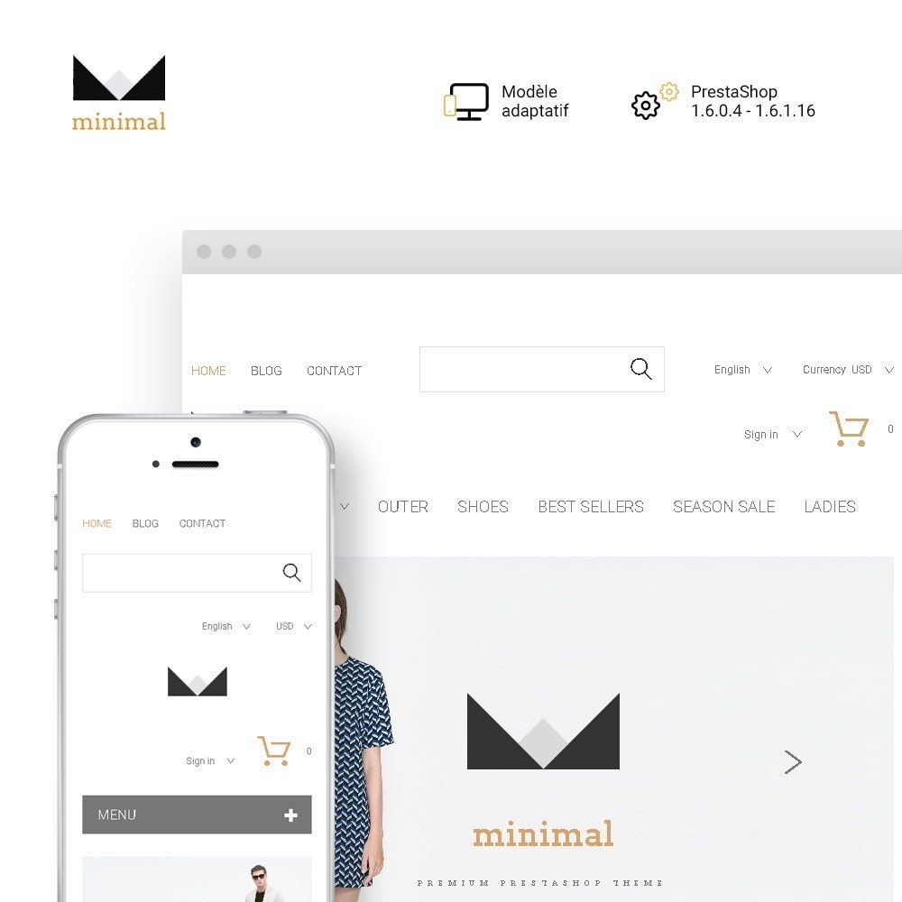 theme - Mode & Chaussures - Minimal - 1