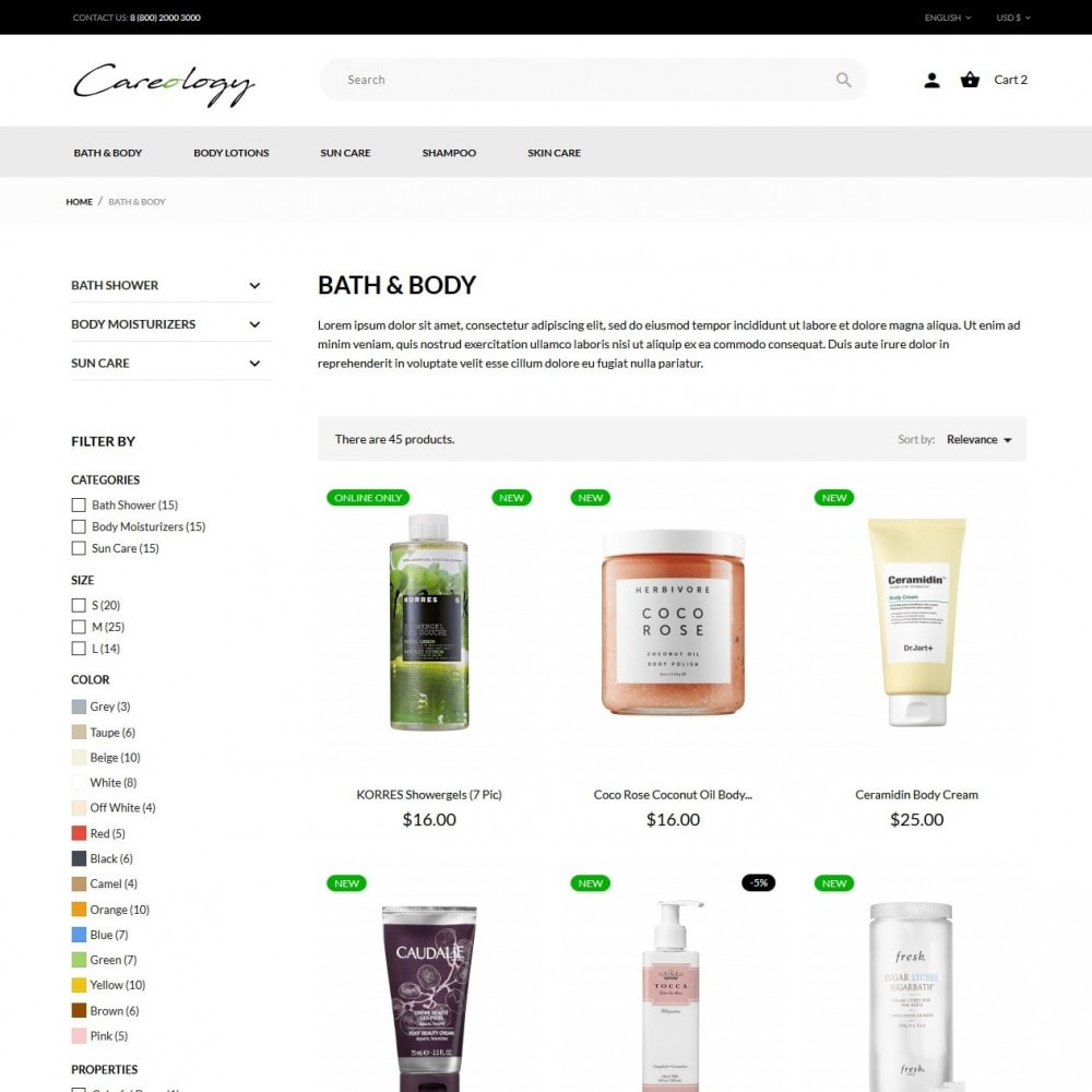 theme - Health & Beauty - Careology Cosmetics - 5