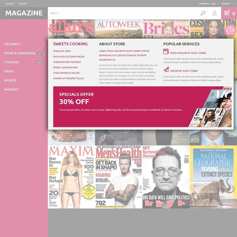 theme - Maison & Jardin - Magazine - Couvertures brillantes thème - 5