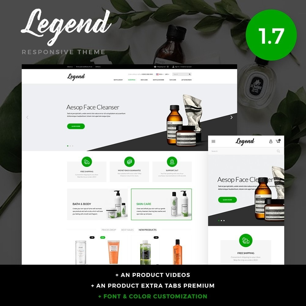 theme - Salute & Bellezza - Legend Cosmetics - 1