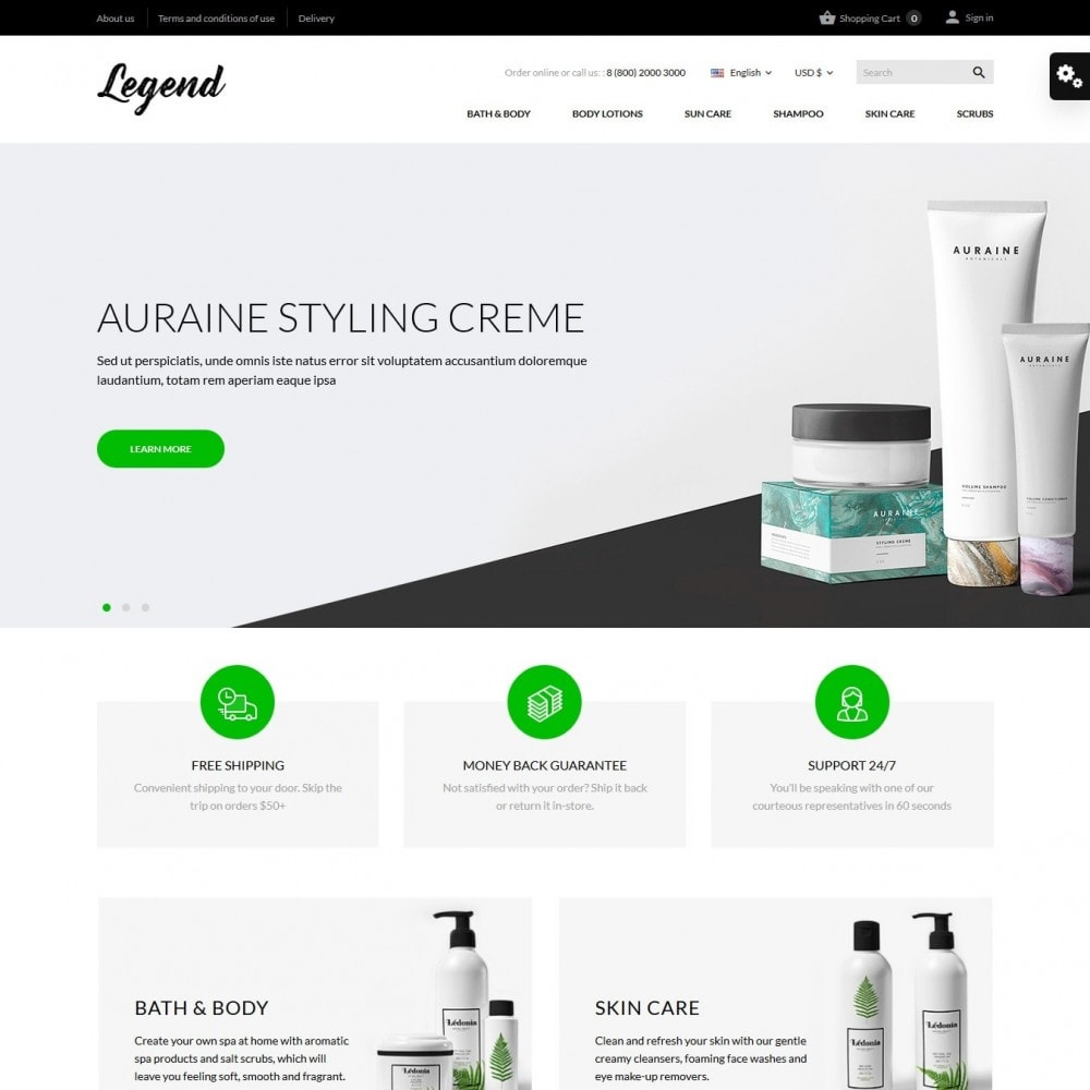 theme - Salute & Bellezza - Legend Cosmetics - 2
