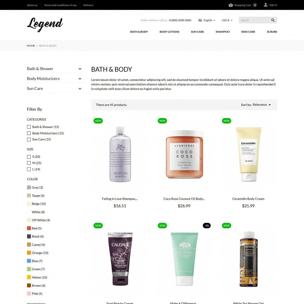 theme - Salute & Bellezza - Legend Cosmetics - 5