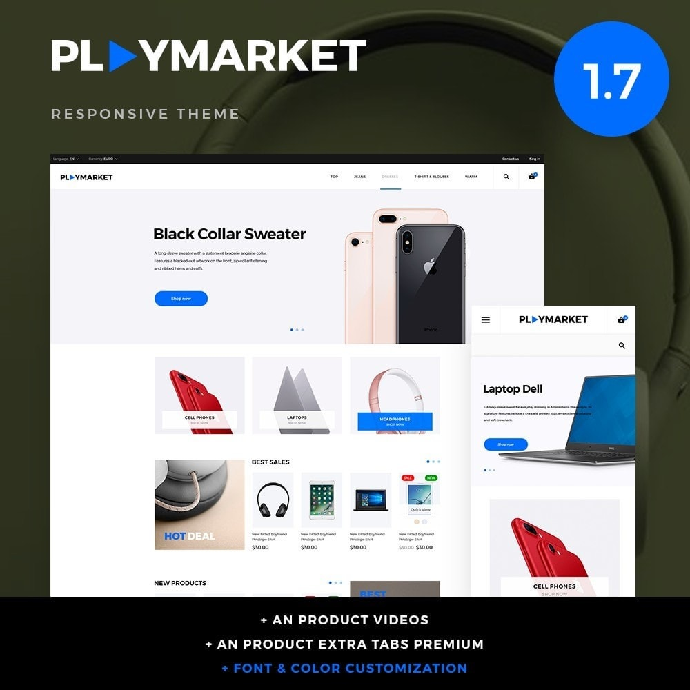 theme - Electrónica e High Tech - PlayMarket - High-tech Shop - 1