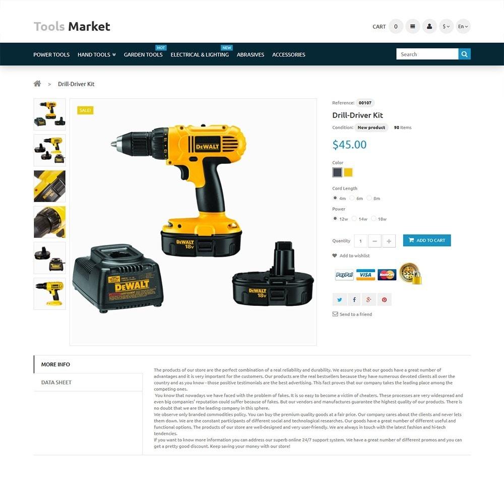 theme - Дом и сад - Tools Market - шаблон на тему ремонт - 3