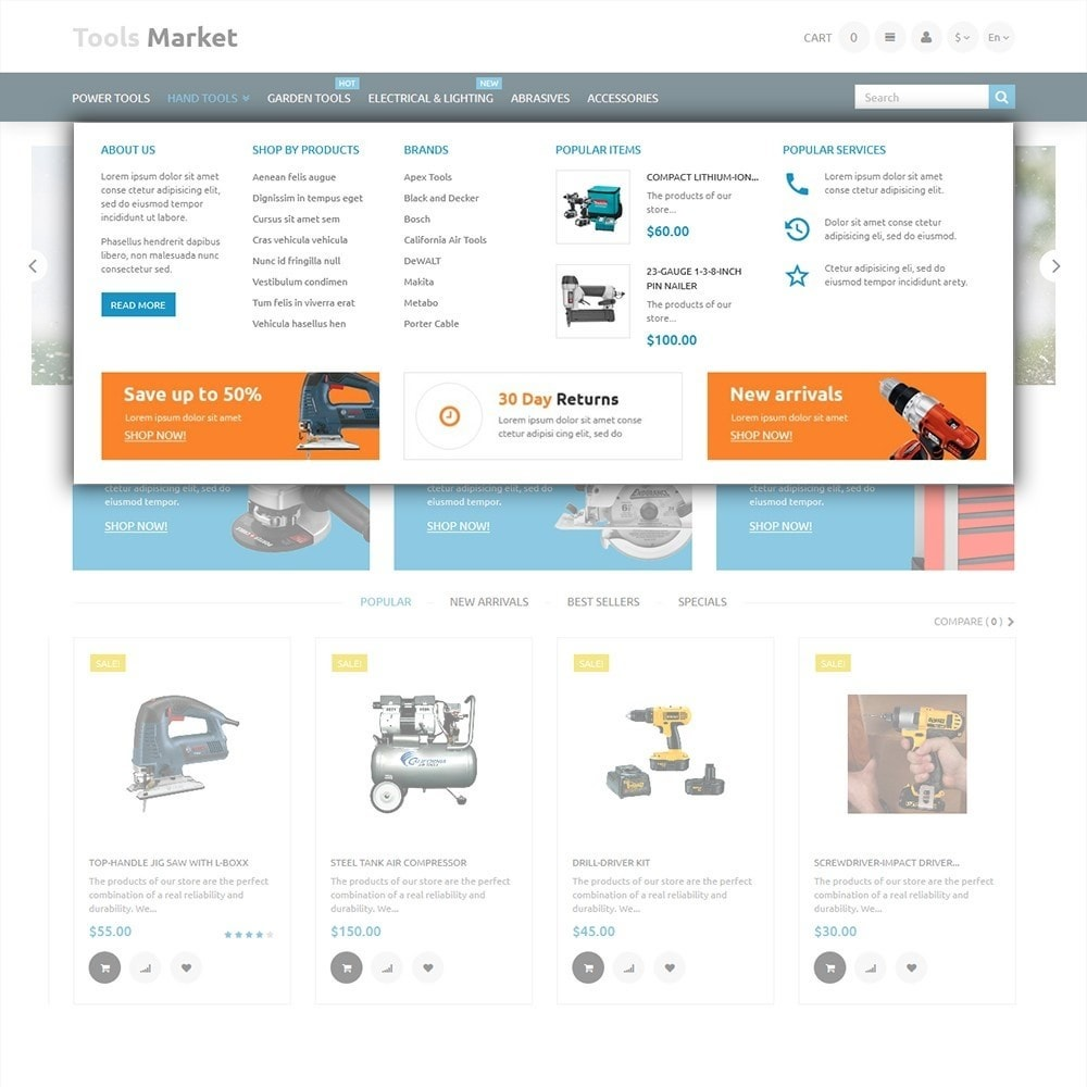 theme - Home & Garden - Tools Market - Home Repairs Template - 5