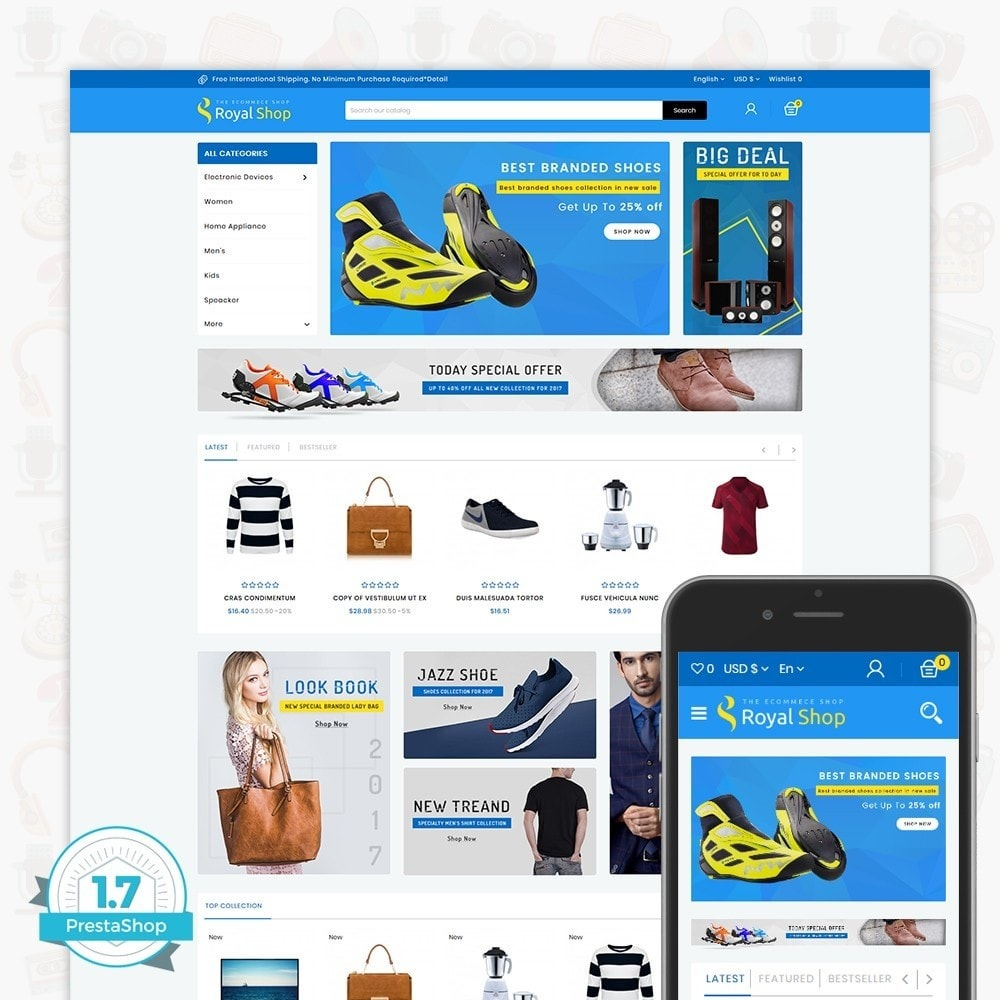 theme - Electrónica e High Tech - Royal Shop - The Ecommerce Shop - 1