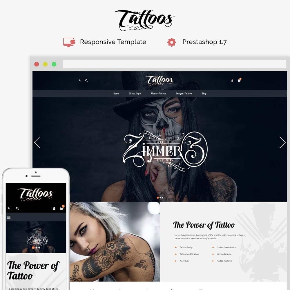 theme - Moda & Calçados - Tattoos Shop - 1