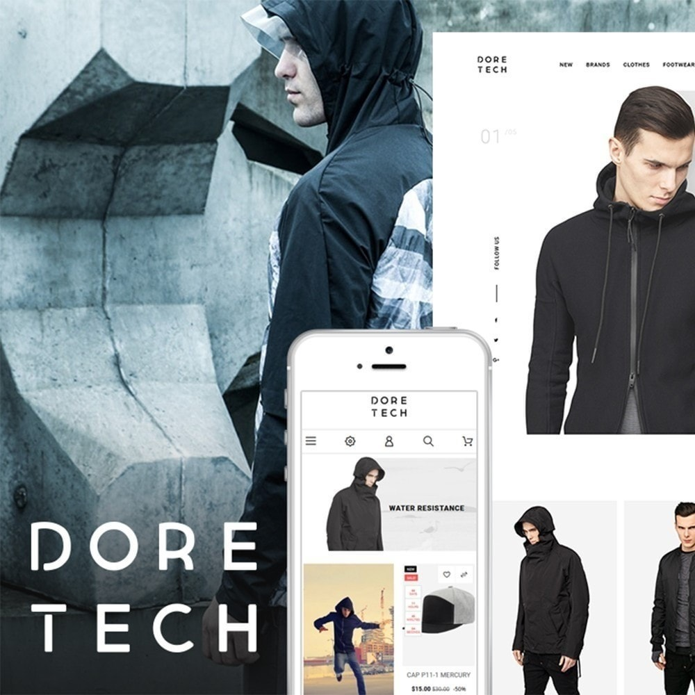 theme - Mode & Chaussures - Dore Tech - 2