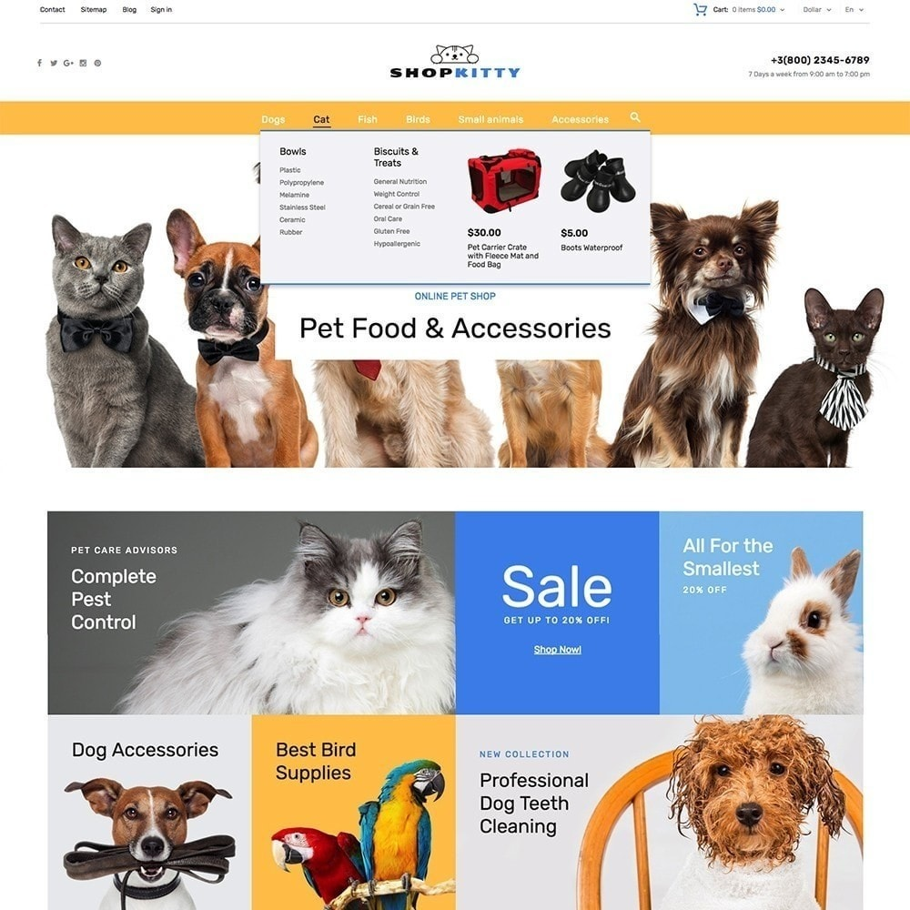theme - Animaux - ShopKitty - 5