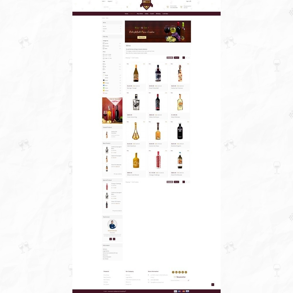 theme - Drink & Wine - On Star - Wine Store - 3
