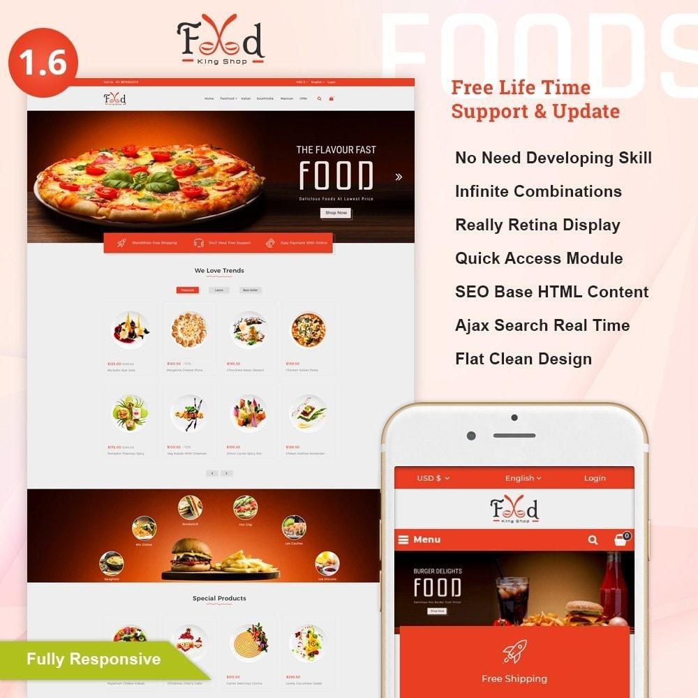 theme - Lebensmittel & Restaurants - Pizz King - Food Store - 1