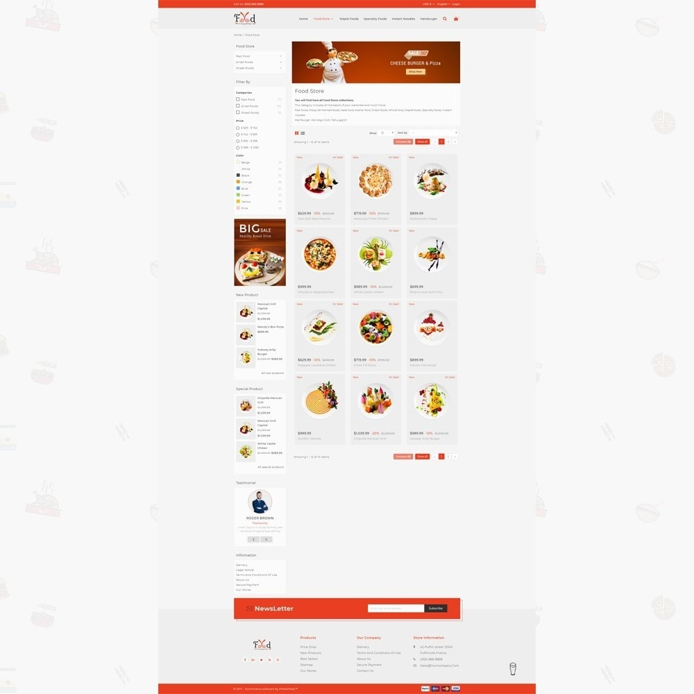 theme - Lebensmittel & Restaurants - Pizz King - Food Store - 3