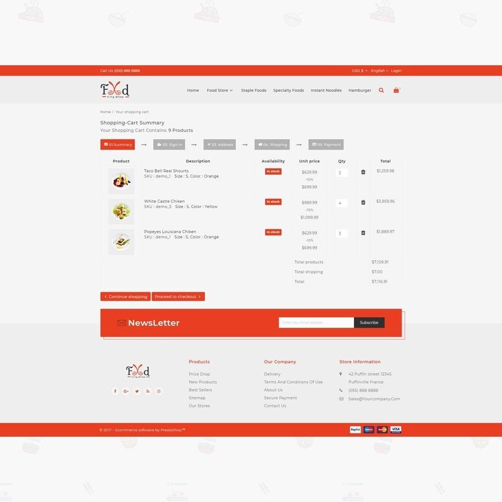 theme - Lebensmittel & Restaurants - Pizz King - Food Store - 5