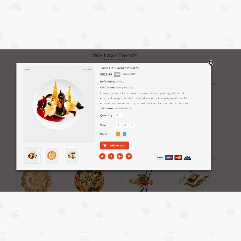 theme - Lebensmittel & Restaurants - Pizz King - Food Store - 7