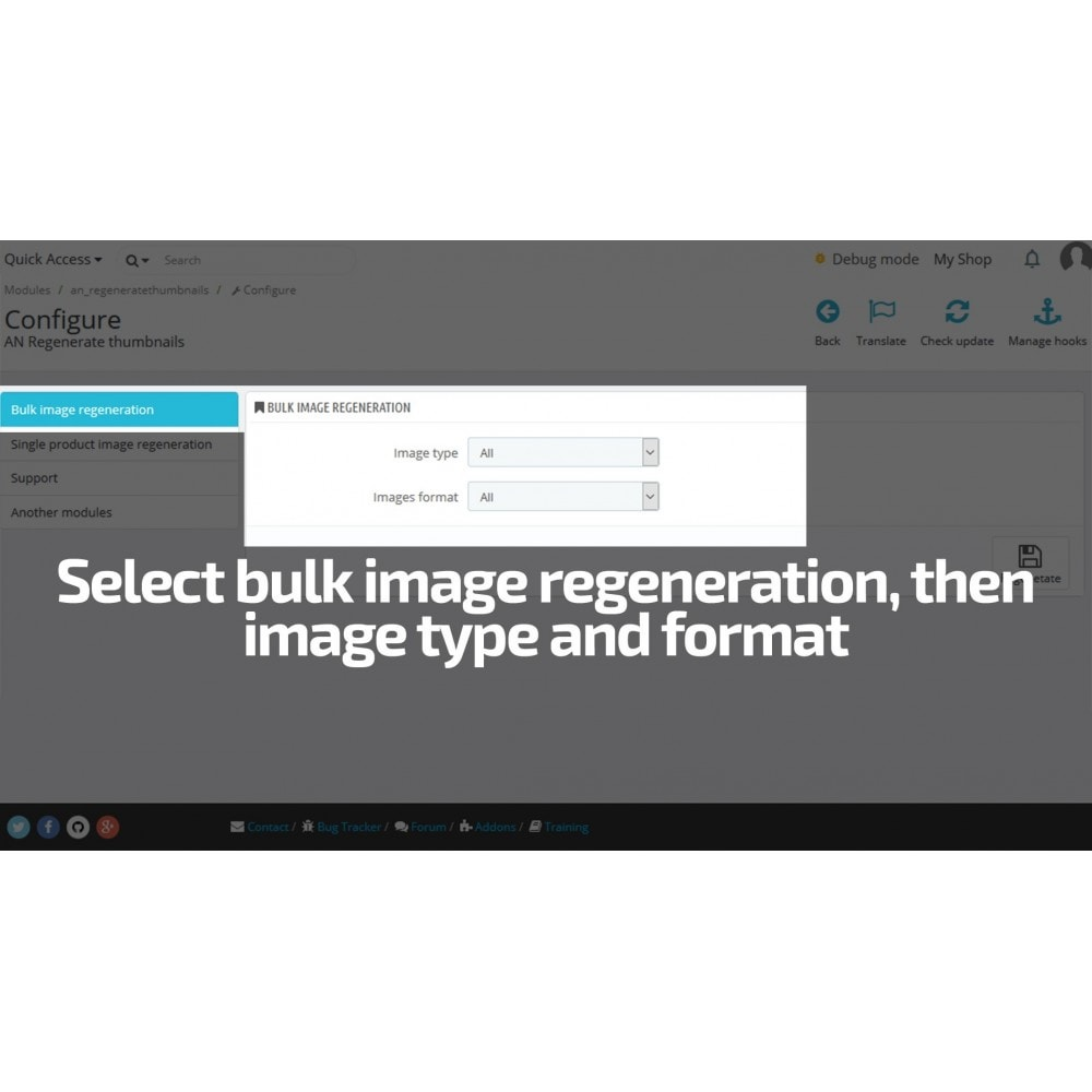 module - Быстрое & массовое редактирование - AN Regenerate Thumbnails / Image size mass update - 3