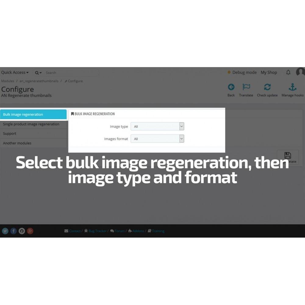 module - Snelle & seriematige bewerking - AN Regenerate Thumbnails / Image size mass update - 3