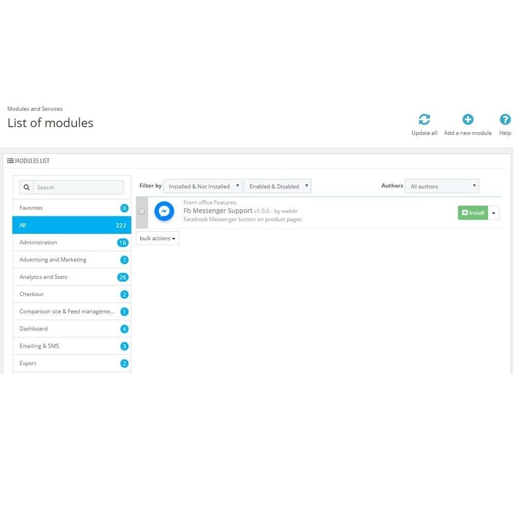 module - Поддержка и онлайн-чат - Посланник и чат Bot - 2