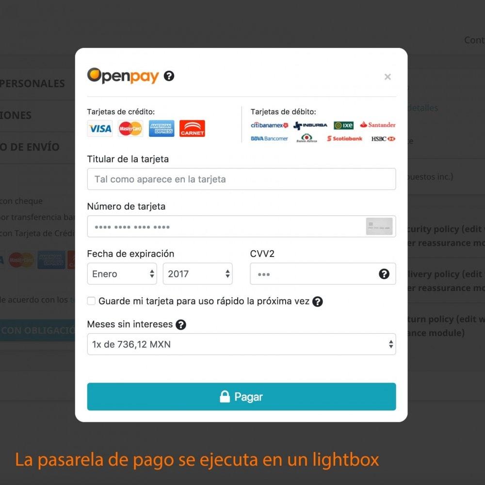 module - Pago con Tarjeta o Carteras digitales - Openpay Plus - 8