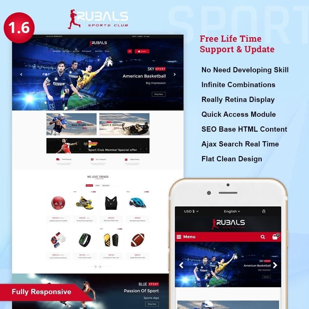 theme - Desporto, Actividades & Viagens - Rubals - Sports Club Store - 1