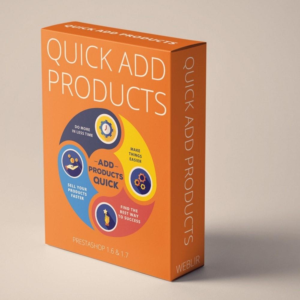 module - Edition rapide & Edition de masse - Créer des produits rapidement et facilement - 1