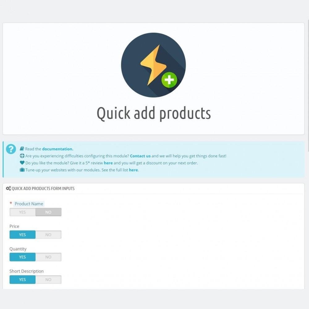 module - Szybkie & Masowe edytowanie - Szybkie dodawanie produktów - Twórz produkty szybciej - 4