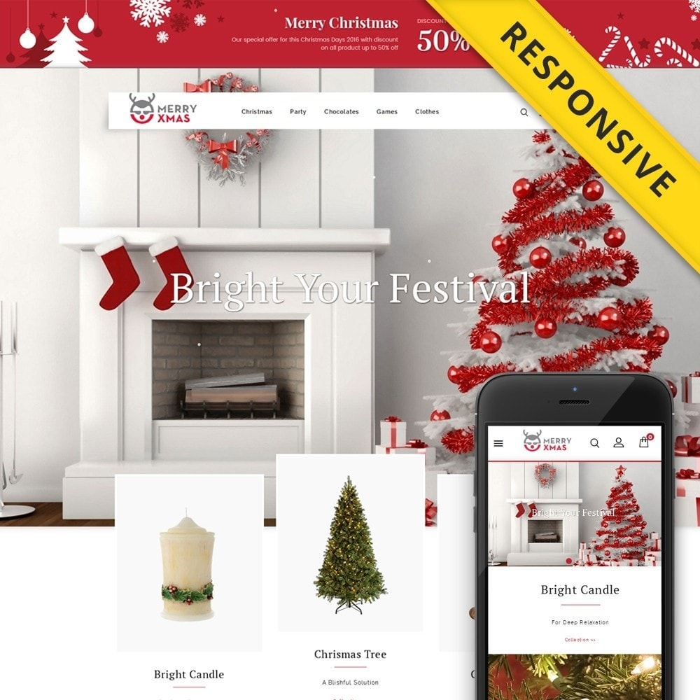theme - Regalos, Flores y Celebraciones - Merry XMAS - Gifts & Flowers Store - 1