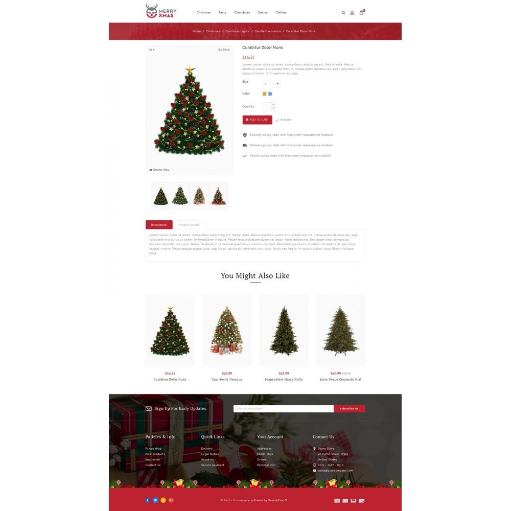 theme - Gifts, Flowers & Celebrations - Merry XMAS - Gifts & Flowers Store - 5