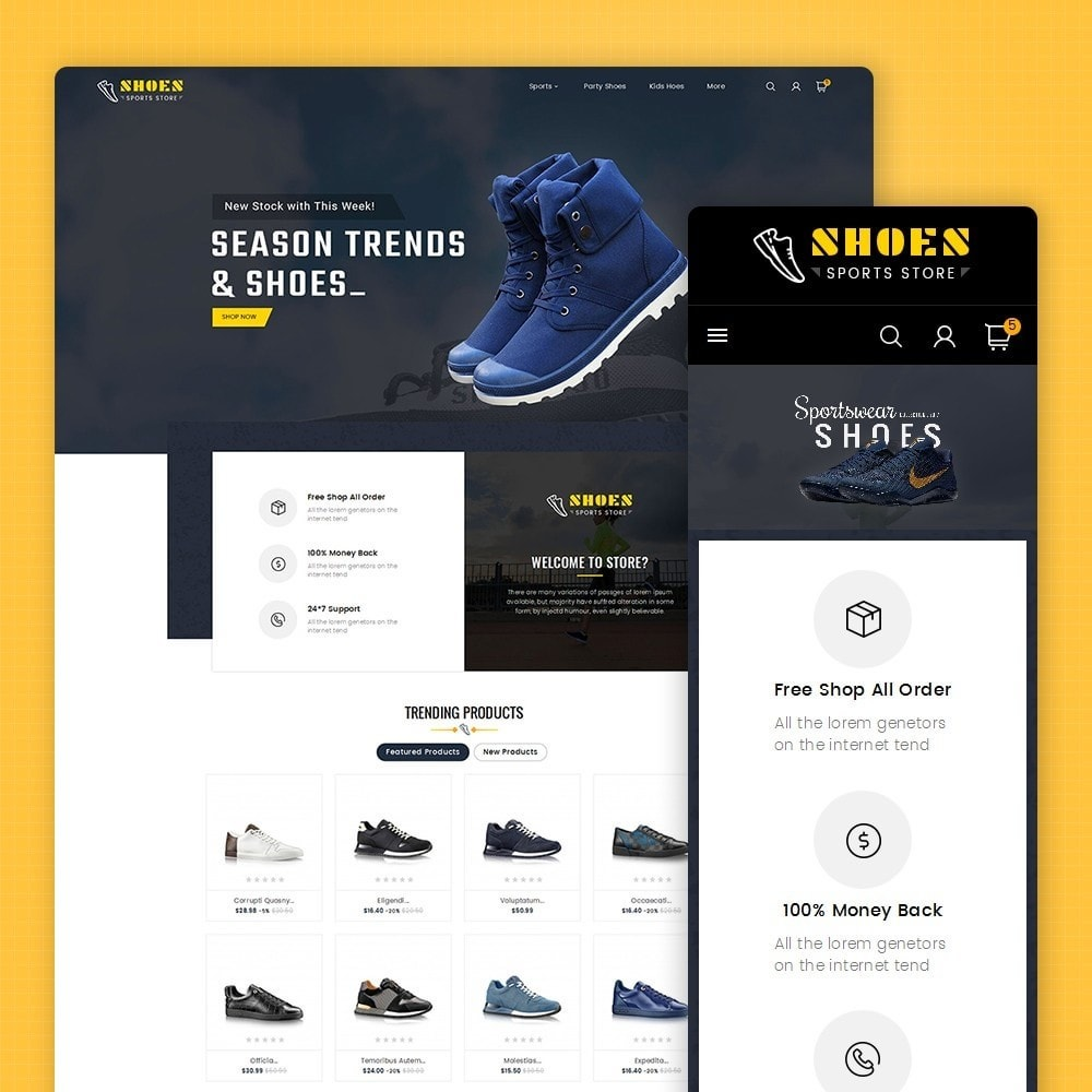 theme - Спорт и Путешествия - Shoes Sport Store - 1